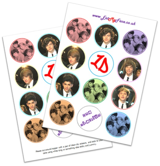 One Direction Edible Cake Toppers