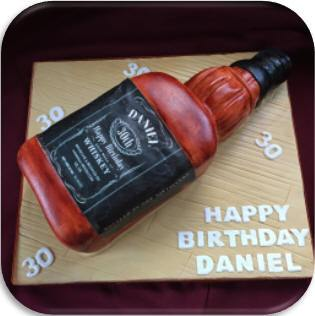 personalised whiskey label bottle cake topper