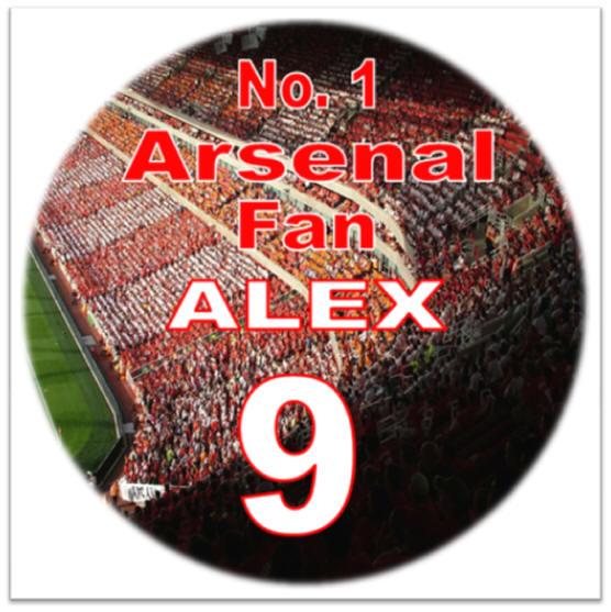 Arsenal Icing Cake Topper