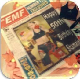 personalised edible newspaper large cake topper
